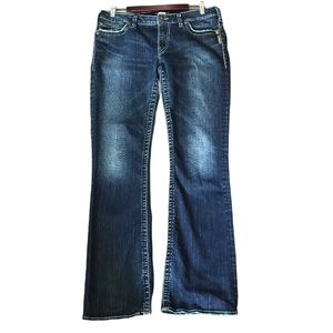 """Silver Womans Frankie 32"""" Lowrise Bootcut Jeans"""